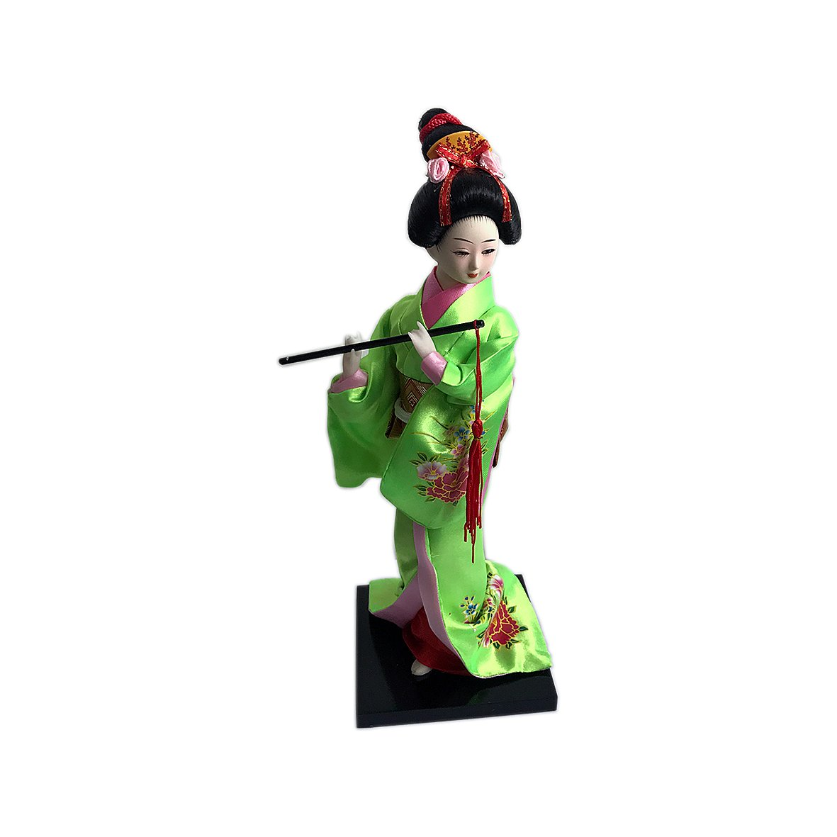 """JG.Betty 9"""" 23cm Japanese Folk Kimono Geisha Doll Maiko Doll puppet stand on Base for Decorative Home and Hotel Gifts Doll (9 Inch, Green Doll JD0003)"""