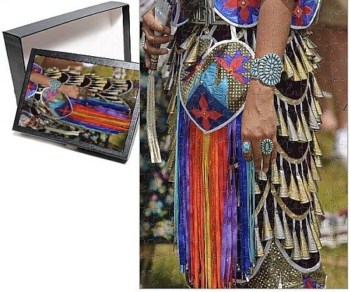 Mexico United Costume (Photo Jigsaw Puzzle of Native American Powwow, Taos, New Mexico, United States of America, North)