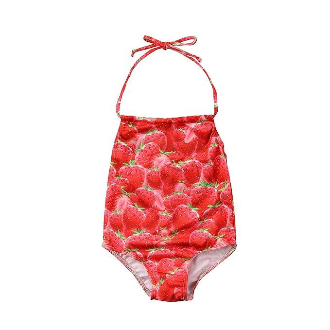 Amazon.com: Bebé niñas traje de baño de una pieza infantil ...