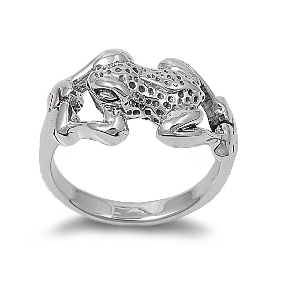 CloseoutWarehouse Sterling Silver Poison Dart Frog Ring Size 8