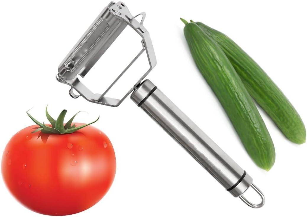 Details about  /Stainless Steel Multi Purpose Peeler Cutter Julienne Potato Kitchen Grater CF