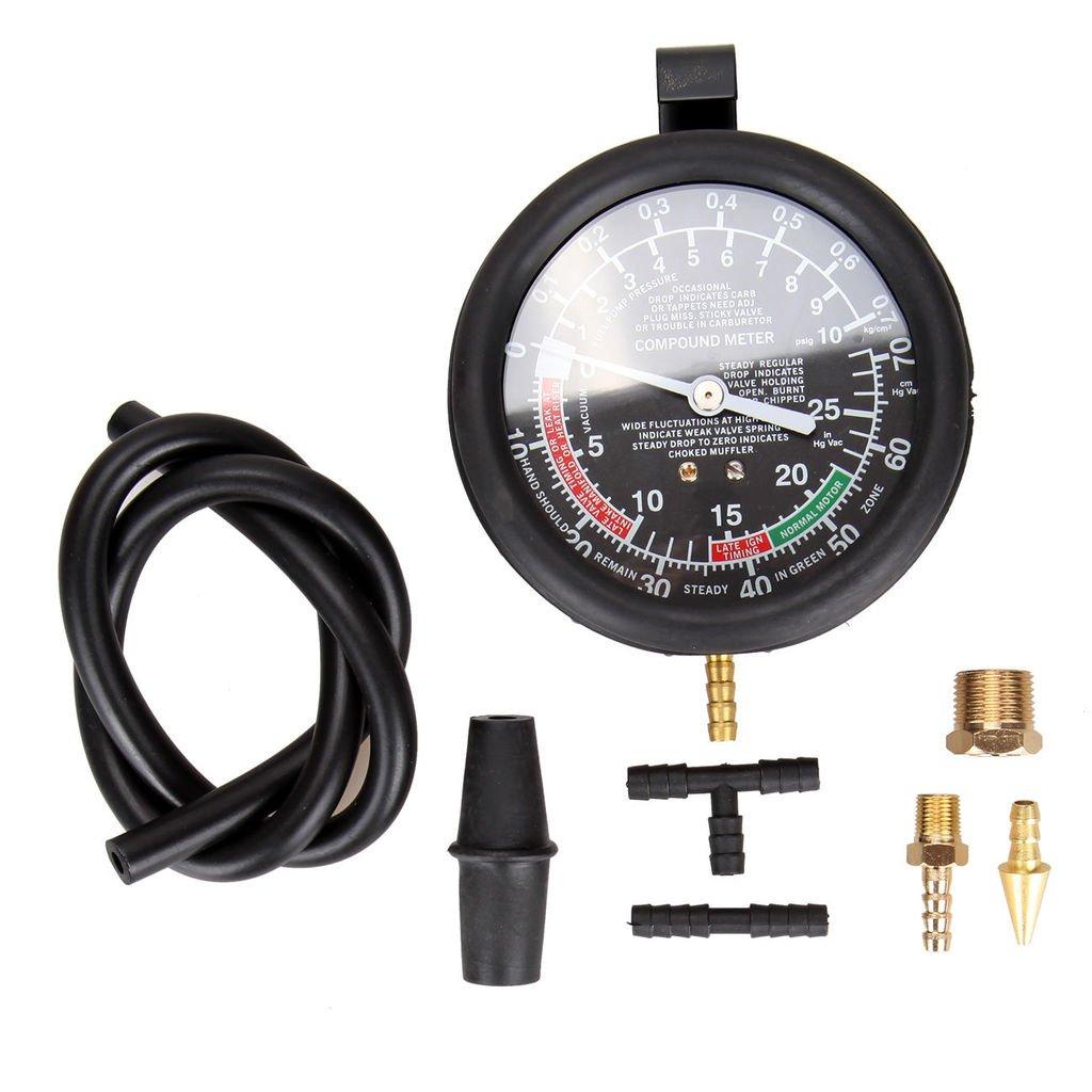 SUPERCRAZY Valve Vacuum Fuel Pump Pressure Diagnostic Test Gauge Tool Set SC0153