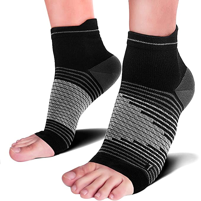Plantar Fasciitis Socks(1/2/6 Pairs) for Heel Pain Relief, Best Compression Foot Sleeves with Arch Support for Plantar Fasciitis, Heel Pain, Foot & Ankle Support
