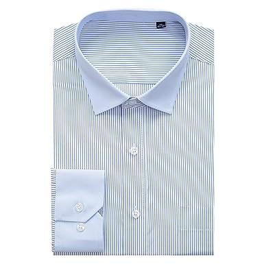 Camisa de Vestir de Manga Larga para Hombre, diseño de Rayas ...