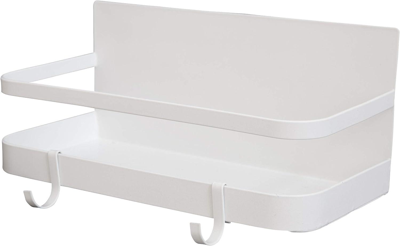 Spice Rack Organizer, Refrigerator Magnet Storage Shelf with hooks, Fridge Spice Storage