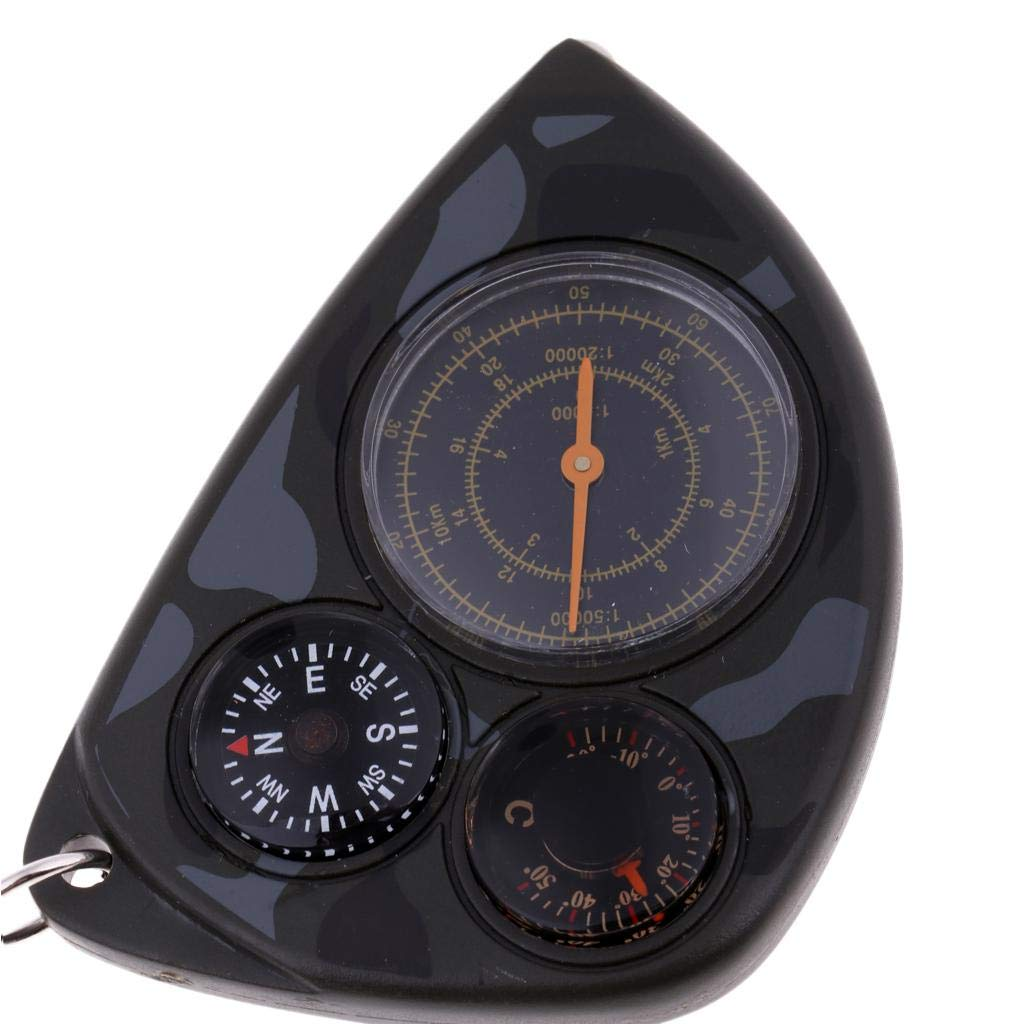 Motoring Boating Backpacking D DOLITY Multifunctional Compass Map Measurer Distance Calculator Great Hiking Camping