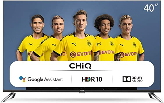CHiQ Televisor Smart TV LED 40 Pulgadas, FHD, HDR10/HLG, Android 9.0, WiFi, Bluetooth, Google Assistant, Netflix, Prime Video HDMI, USB: Amazon.es: Electrónica