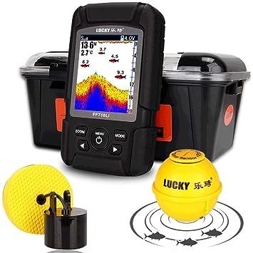 Localizador de Peces, Detector de Profundidad Sensor de Sonar Inteligente Sonda Inalámbrica/Por Cable