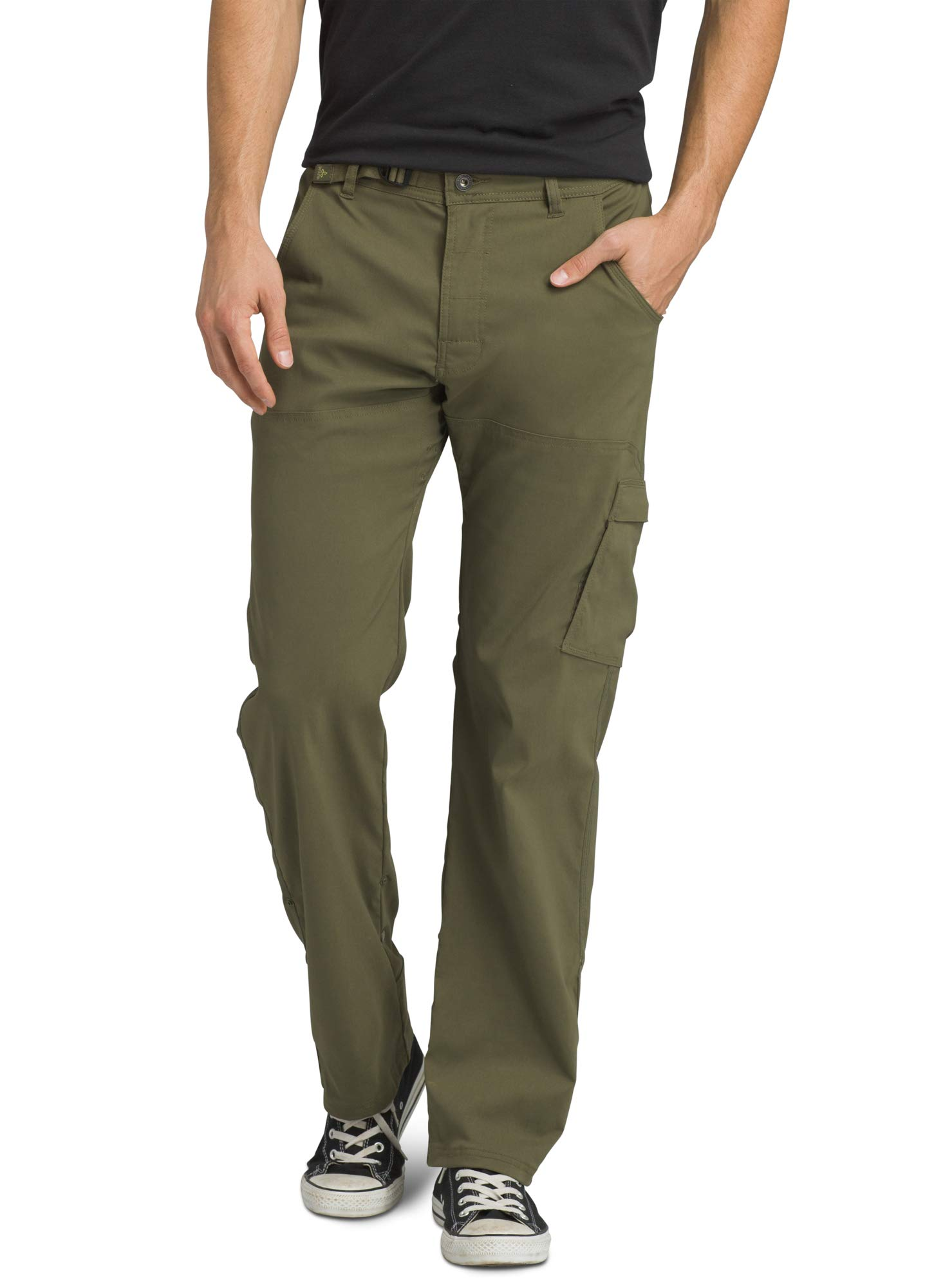 prAna - Men's Stretch Zion Lightweight, Durable, Water Repellent Pants for Hiking and Everyday Wear, 32'' Inseam, Cargo Green, 34 by prAna