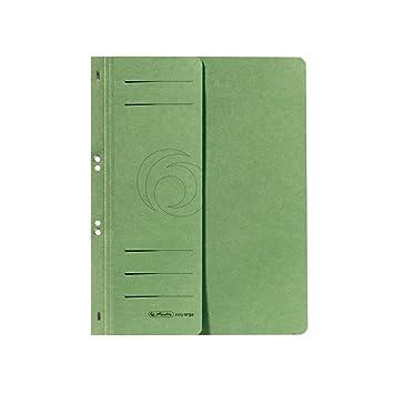 Karton gr/ün Herlitz 10837318 /Ösenhefter A4 1//2 Vorderdeckel 50 St/ück kaufm/ännische Heftung