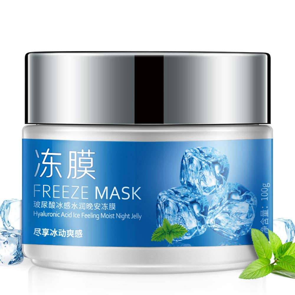 BIOAQUA Face Freeze Mask Hyaluronic Acid Ice Feeling Noist Gentle Night Jelly Mask Clear and Fresh Skin Care Natural 100g
