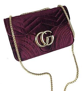 KKGG Bolso de Las señoras de la Marca de fábrica del Hombro de la Mujer Premium para Llevar Carteras, cosméticos y Productos de Otras Mujeres-Rojo ...