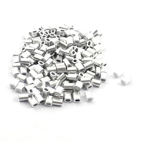200 piezas 1 mm aluminio Cables de acero cuerda de alambre ...