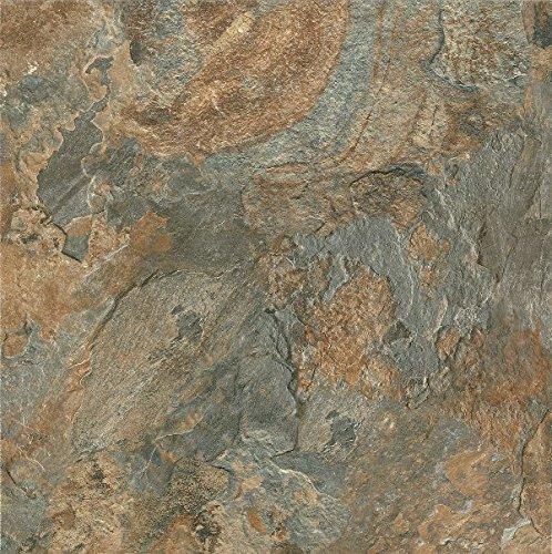 Canyon Tile Flooring (Armstrong FPD2112261 Mesa Stone Alterna Vinyl Tile Flooring, Canyon Sun)