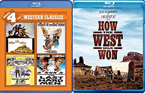Classic Hollywood Westerns 5-Movie Bundle - How The West Was Won, Rio Conchos, Take a Hard Ride, Butch & Sundance: The Early Years & The Last Hard Men Blu-ray Set