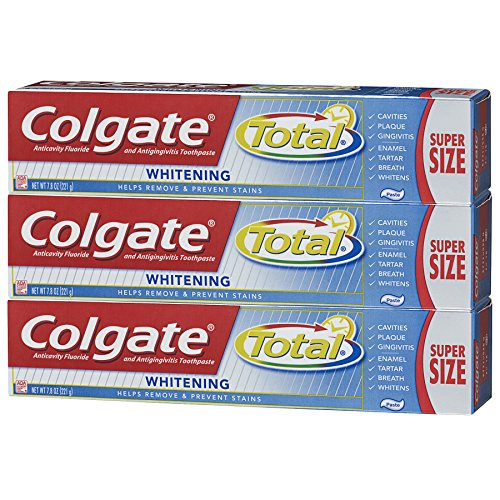 Colgate Toothpaste, Total Whitening, 7.8 oz Triple Pack (Super Size) by Colgate (Image #9)