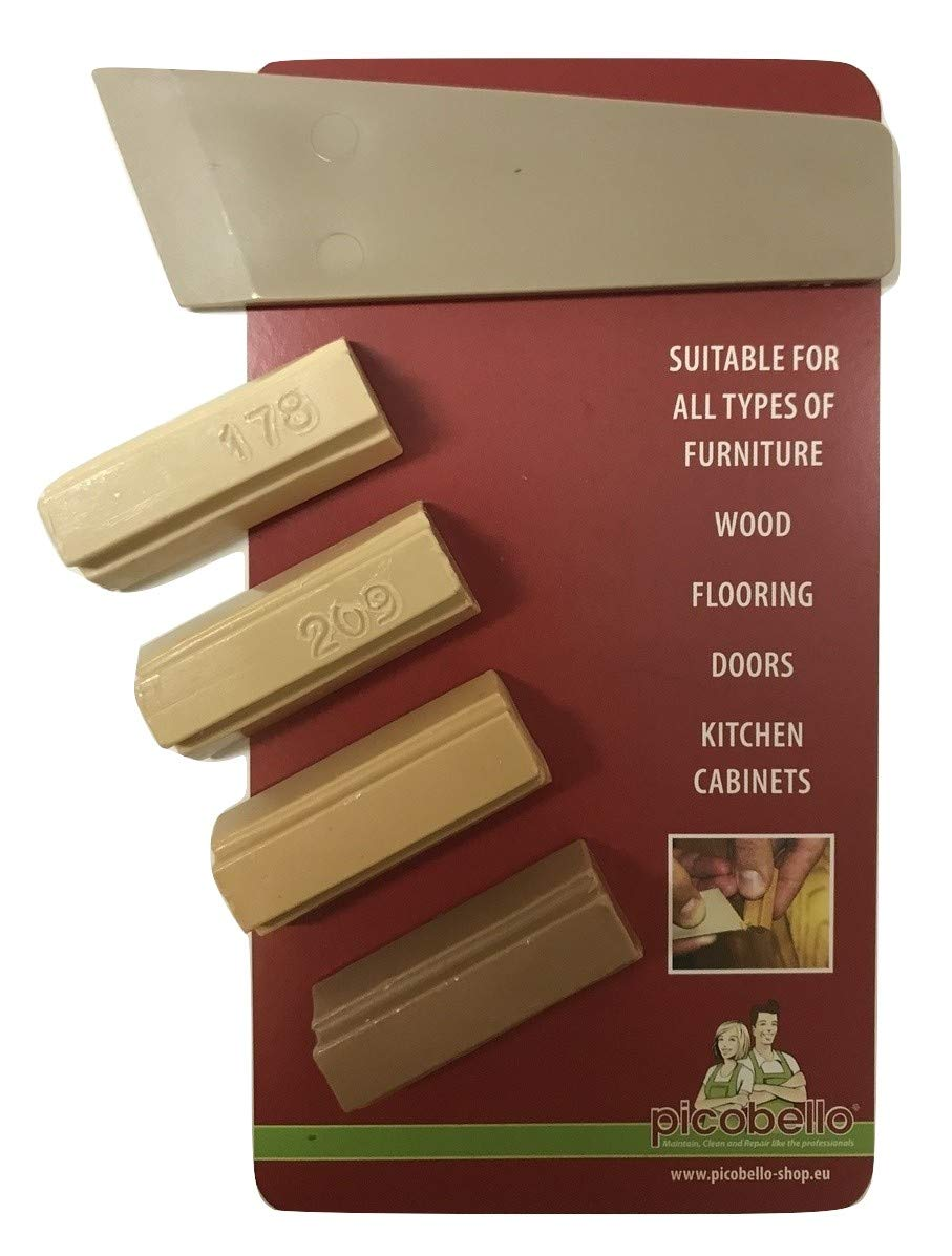 1 x Laminate Floor Worktop Furniture Repair Kit (L) For Beech, Light Beech, Warm Beech, Honey Beech, Ash, Birch, Light Oak, Maple, Pine, Medium Oak, Light Teak, Natural Teak and similar shades