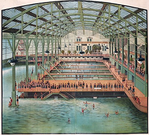 Sutro Baths Vintage Poster USA c. 1896 (24x36 Giclee Gallery Print, Wall Decor Travel (Sutro Baths)