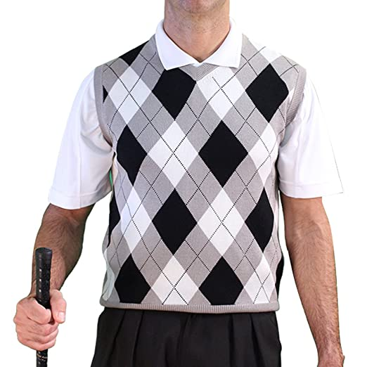 1920s Style Mens Vests GolfKnicker Argyle V-Neck Golf Sweater Vests: Mens - Pullover (AAA-ZZZZ) $69.95 AT vintagedancer.com