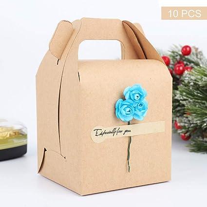 10 pcs Caja de regalo de navidad,Cajas de Dulces Galletas Cajas de ...