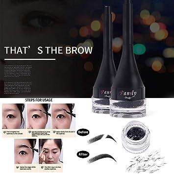 0156f5f18c4 Amazon.com : Franterd 3D Eyebrow Extensions Gel Fiber Brow Extension Hair  Fiber Waterproof Instant Makeup Pen Eyebrow Liquid Proof Water Tattoo for  Women ...