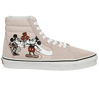 77a22f6d8e7ff9 Amazon.com  Vans Disney SK8-Hi Mickey   Minnie Pink Sneakers  Shoes