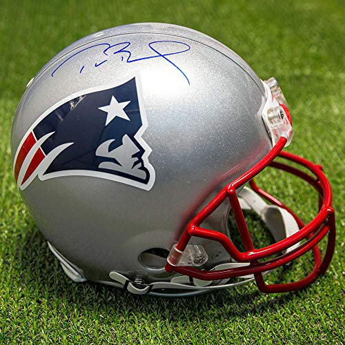 Tom Brady New England Patriots Autographed Autograph Authentic Pro NFL Football Helmet - Certificate of Authenticity Included Autographed Patriots Pro Helmet