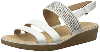 Naturalizer Women's Dynamic Wedge Sandal, White, ...
