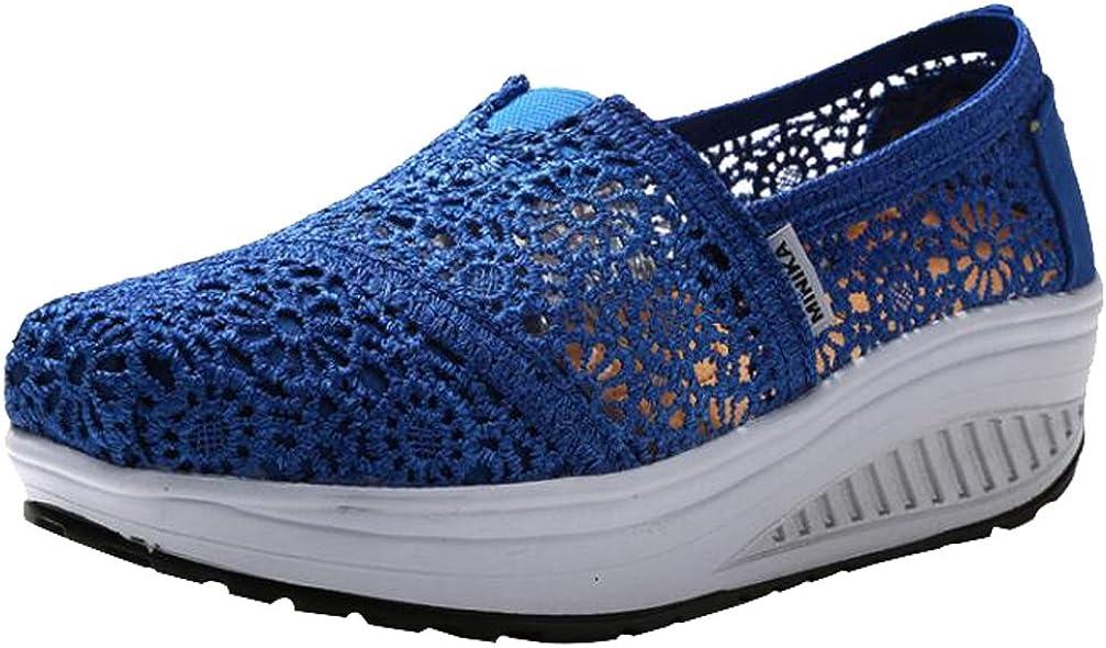 Round Toe Platform Sneakers