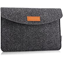 MoKo Sleeve for 7-8 Inch Amazon Tablet, Protective Felt Case Bag Cover for All-New Fire HD 8, Fire 7, Fire HD 8 Kids Edition 2017, Kindle Oasis 2017, Kindle(8Th Gen, 2016) - Dark Gray
