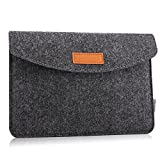 MoKo Sleeve for 7-8 Inch Amazon Tablet, Protective Felt Case Bag Cover for All-New Fire HD 8, Fire 7, Fire 7 / Fire HD 8 Kids Edition 2017, Kindle Oasis 2017, Kindle(8th Gen, 2016) - Dark Gray