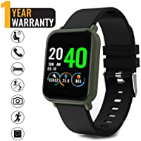 Ackofit Ultra Smart Fitness Band Smartwatch with All Activity Tracker, Heart Rate, Blood Pressure for Men and Women (Olive Green)