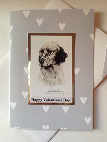 Setter handmade happy valentines day dog card greetings love setter handmade happy valentines day dog card greetings love romance greeting card a6c6 size m4hsunfo