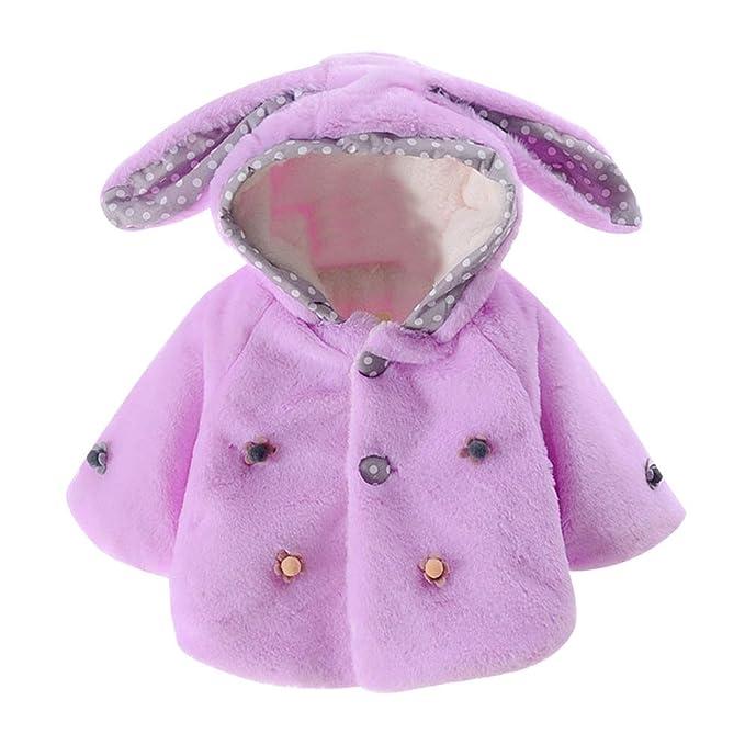 DianShao Bebé Niñas Moda Abrigos Otoño Invierno Chaqueta con Capucha Púrpura 100: Amazon.es: Ropa y accesorios