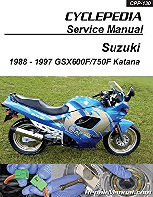 cpp 130 suzuki gsx600f gsx750f katana cyclepedia printed Suzuki Drz400s Wiring Diagram