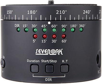 Sevenoak Sk Ebh01 360 Grad Schwenk Rotating Elektronische Panoramic Stativ Kugelkopf Zeitraffer Stabilizer Für Smart Phone Gopro Kameras Und Leichtbau Dslrs