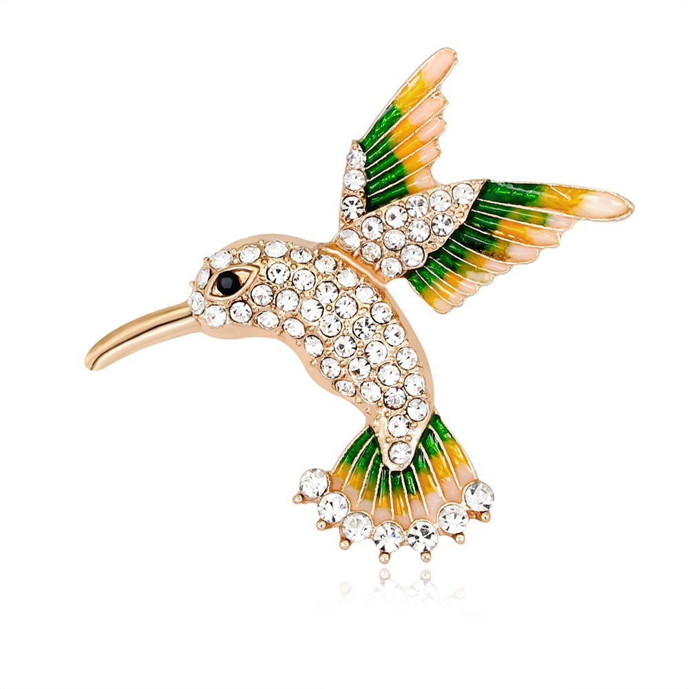 Hosaire 1 pcs Christmas Brooch Fashion High-grade Alloy Diamond-studded Bird Cartoon Brooch Clothing Accessories