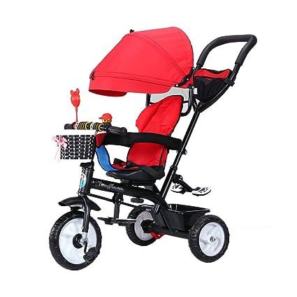 Bicicleta 4 en 1 para niños de 1-3 a 6 años Triciclo de niños