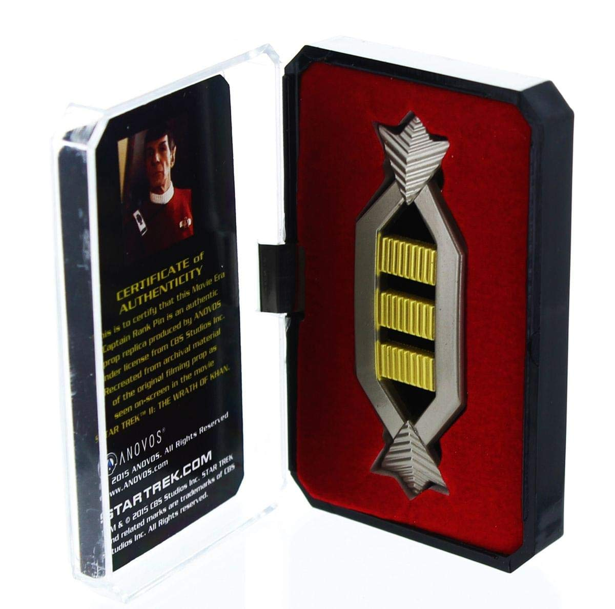 dccf8f08839c18 Star Trek Spock Captain Authentic Rank Pin  Amazon.co.uk  Toys   Games