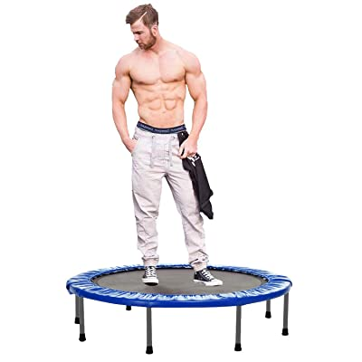 "Anfan Mini Trampoline Rebounder for Adult and Kids, 38""/40"" Foldable Fitness Exercise Trampoline with Safety Pad for Home Gym Workout Cardio Training Max. Load 220lbs : Sports & Outdoors"