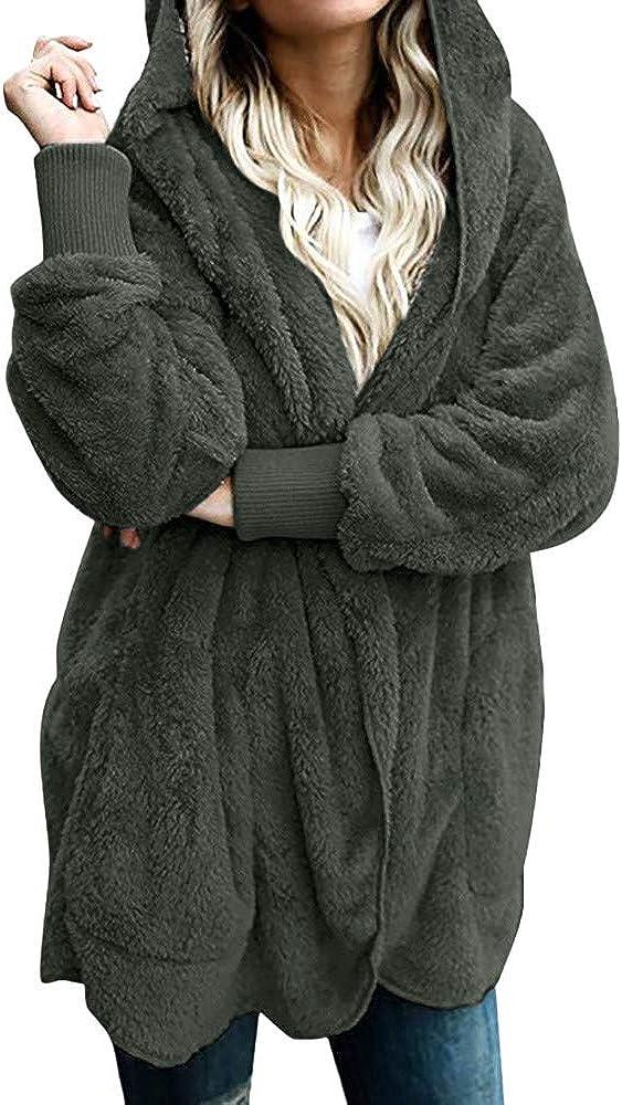 Liraly Womens Coats Winter Long Jacket Hoodies Parka Outwear Cardigan Coat