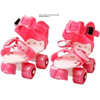 Toy Arena Roller Skates for Girls Age Group 5-12 Years Adjustable Inline Skating Shoes with School Sport-Pink Color for Girls (Pink)