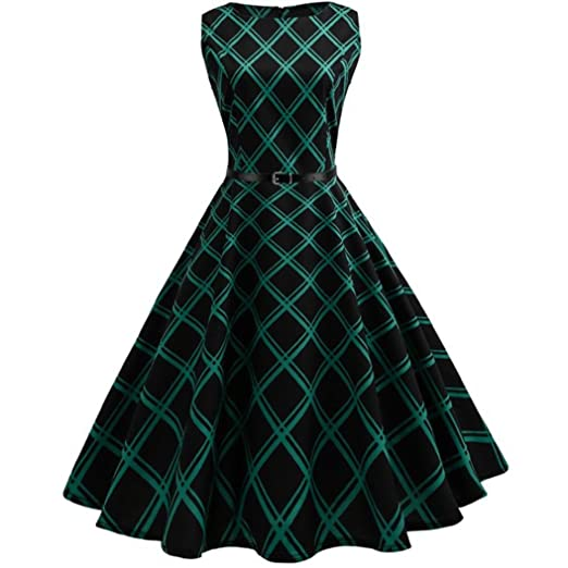 Women s Vintage Classy Audrey Hepburn 1950s Party Retro Swing Dress at  Amazon Women s Clothing store  c5cd9a7e0bc6