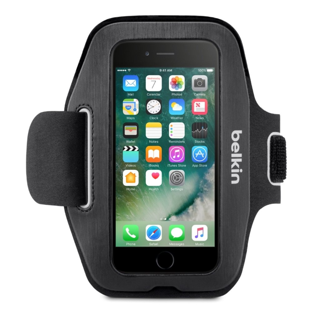 Belkin Sport-Fit Armband for iPhone 7 and iPhone 8 (Blacktop)