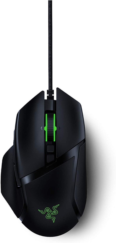 Razer Basilisk V2 - Ratón para Juegos FPS (Ratón Gaming con nuevo Sensor Óptico Focus+ de 20000 DPI, 5G, Interruptor dpi Extraíble y Rueda de Desplazamiento Personalizable, RGB Chroma e USB, Negro)