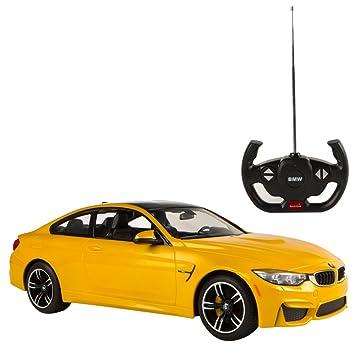 RASTAR - Coche Radio Control 1:14, BMW M4 Coupé, Color Amarillo (
