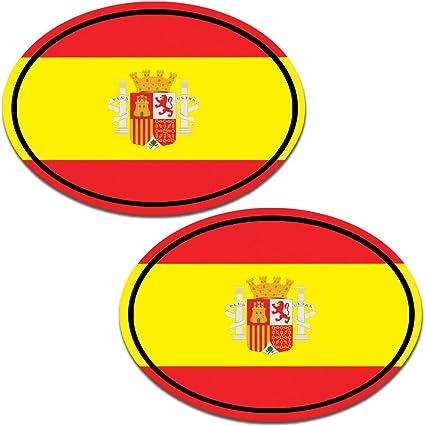 Biomar Labs® 2 pcs Pegatinas Spain Bandera Nacional España Vinilo ...