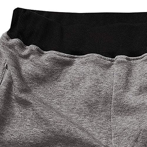 Sweatpants Grau Elástica Joggers Deportivos Slim Casuales Hombres Pantalones Basicas Cintura Fit Stretch B4OWzqw