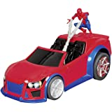 Happy People 37017–Nikko, Marvel Web Wheelie, Spider Man RC
