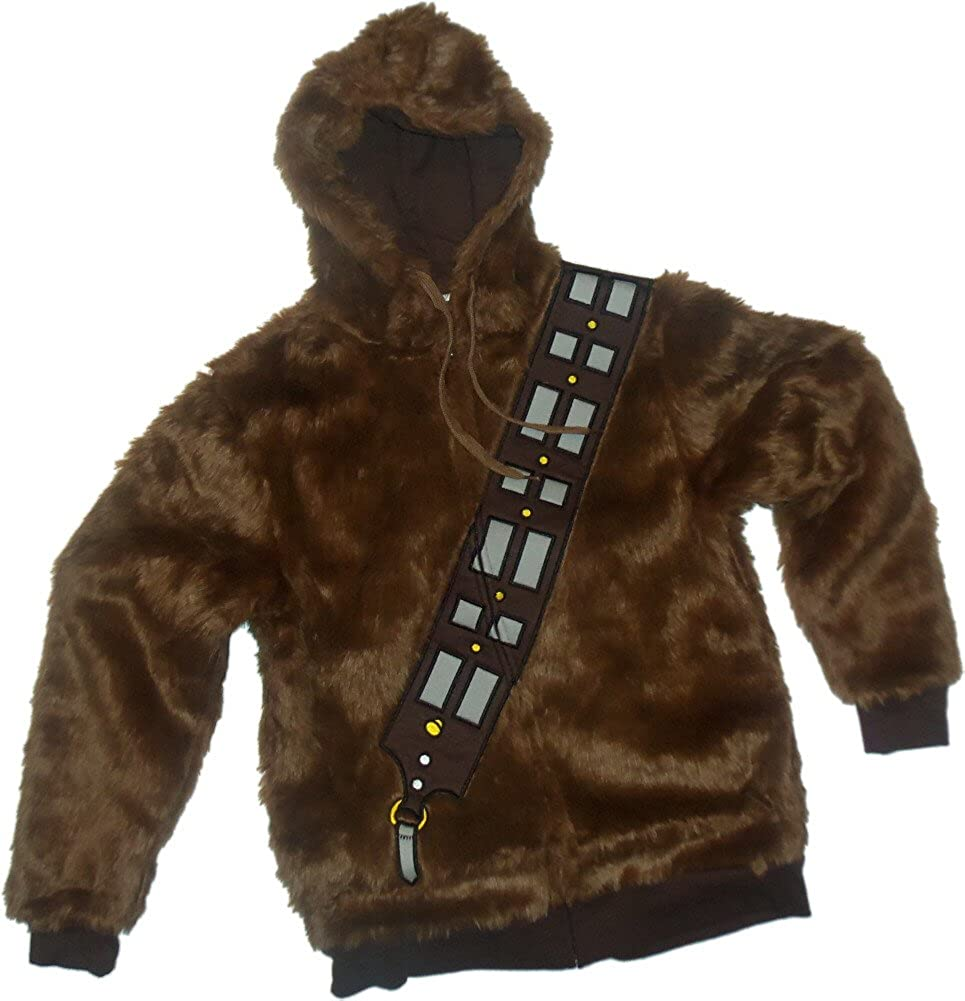 Chewbacca Traje -- Star Wars Hoodie Zipper-Fleece Sudaderas ...